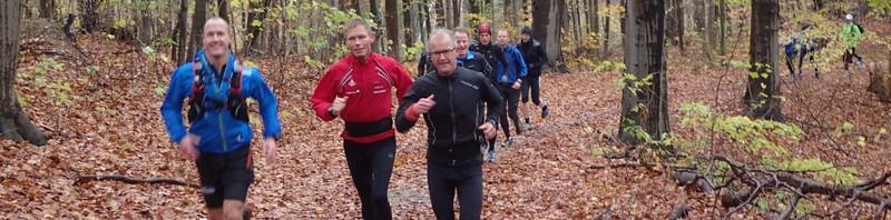 De bomstærke løbere i 4-timers gruppen overhaler.