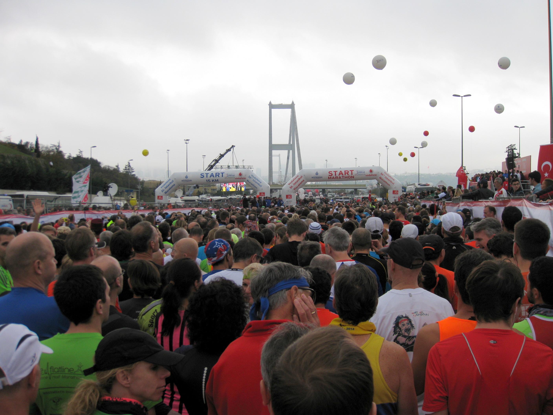Vi er opdelt i 15 km og marathon