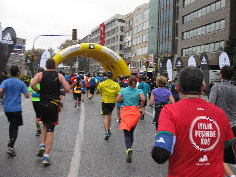 Så er der løbet 8. km, her slutter Fun run ca. 120.000 deltagere